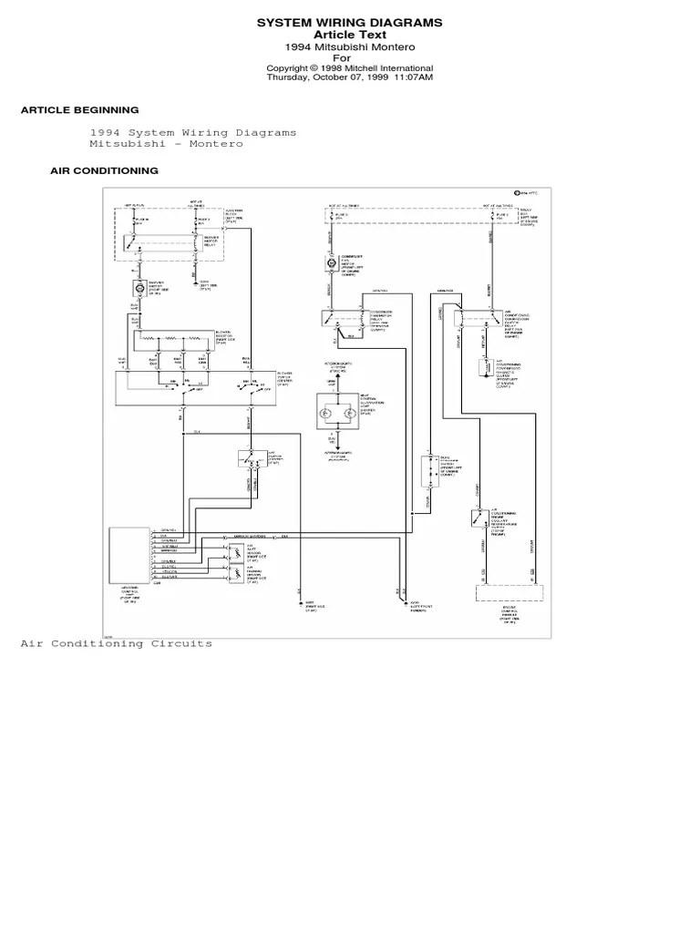 hight resolution of manual mitsubishi pajero jr car body styles car 1994 mitsubishi montero 30l engine circuit schematic diagram