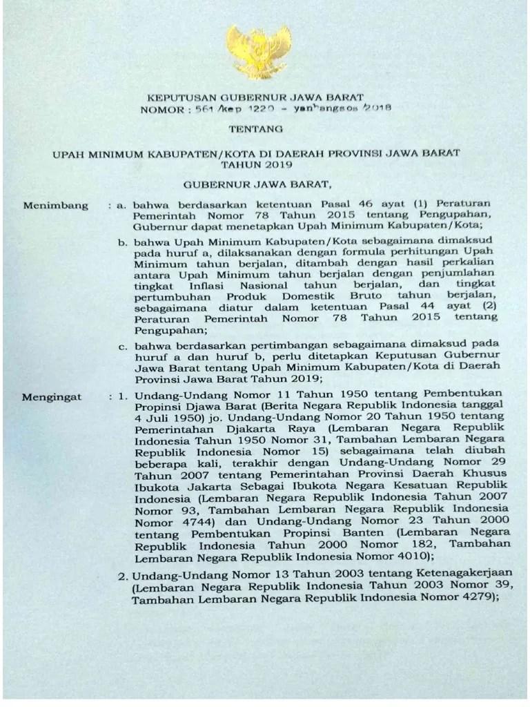 Sk Gubernur Jawa Barat Umk 2019 Pdf : gubernur, barat, Gubernur, Tentang, Jabar