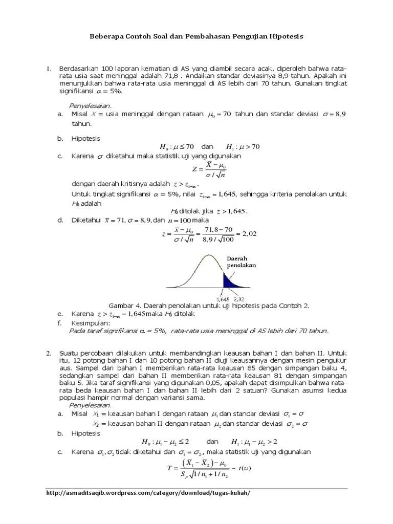 Contoh Soal Uji Hipotesis : contoh, hipotesis, Contoh-soal-pengujian-statistik-statistik-probabilitas.docx