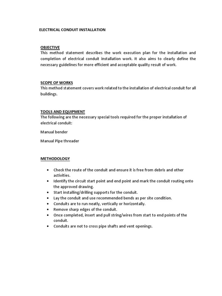 hight resolution of electrical work quality plan