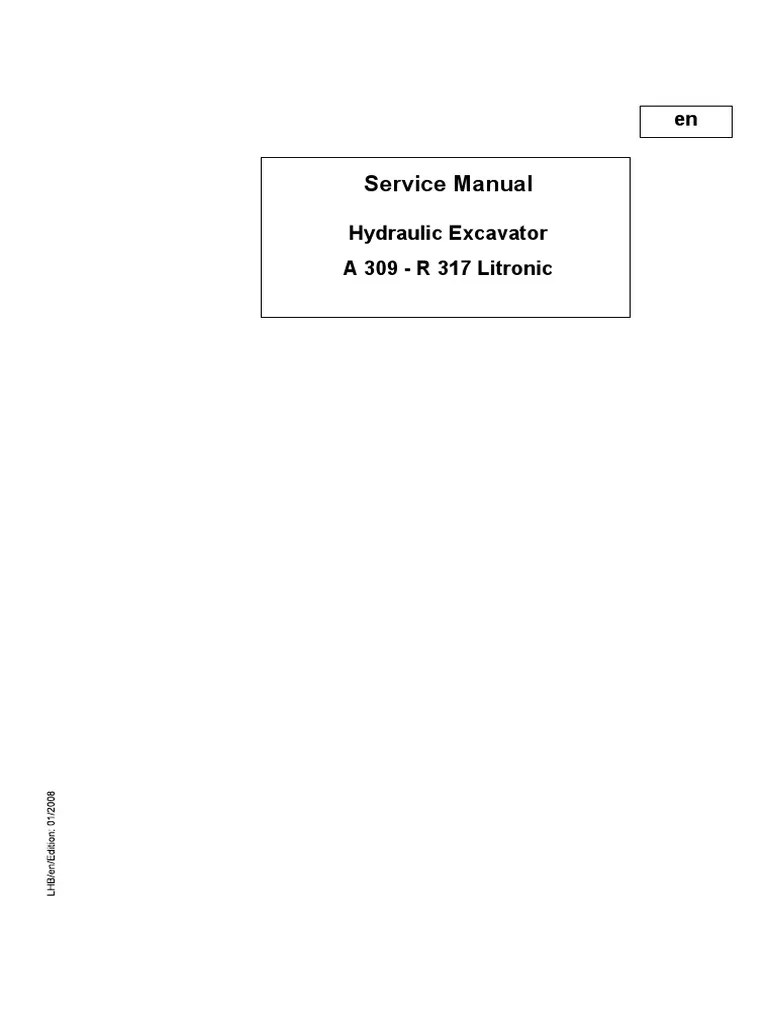 medium resolution of liebherr a316 li ind litronic wheel excavator service repair manual sn2001 an up pdf machines truck
