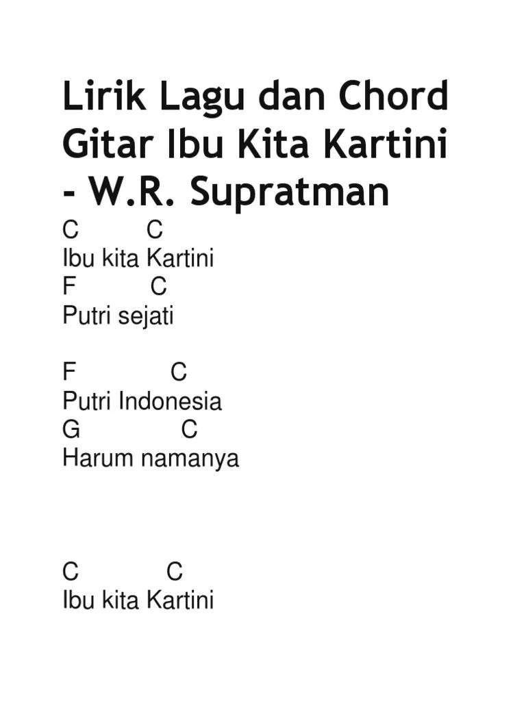 Lirik Ibu Kartini : lirik, kartini, Lirik, Chord, Gitar, Kartini