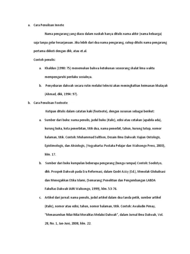 Penulisan Footnote Jurnal : penulisan, footnote, jurnal, Penulisan, Innote