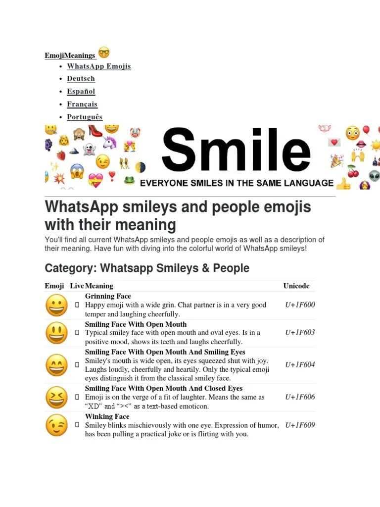 emojis and their meanings