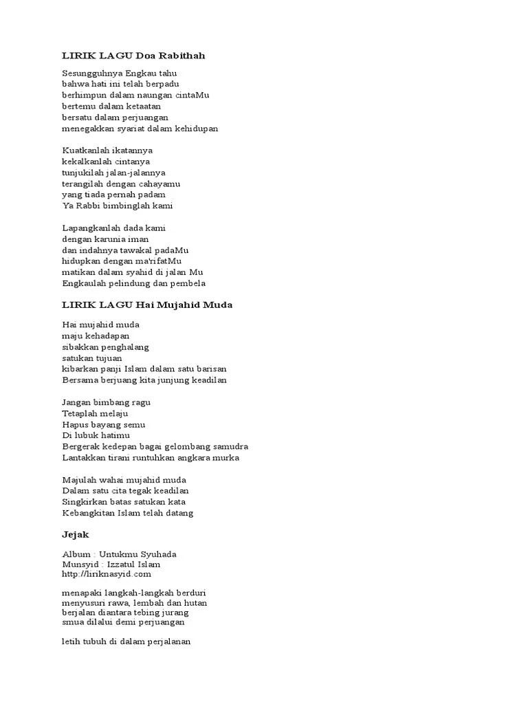 Lirik Lagu Perjuangan Dan Doa : lirik, perjuangan, Ainul, Mardhiah, Lirik
