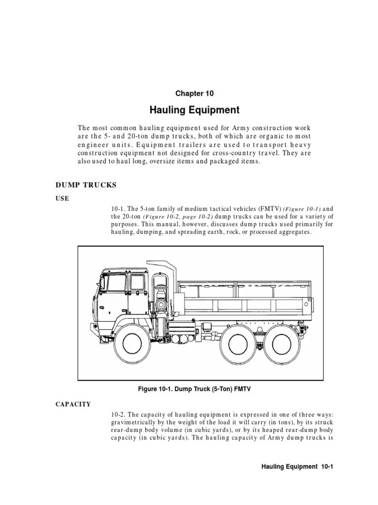 What Is the Typical Capacity of a Dump Truck?