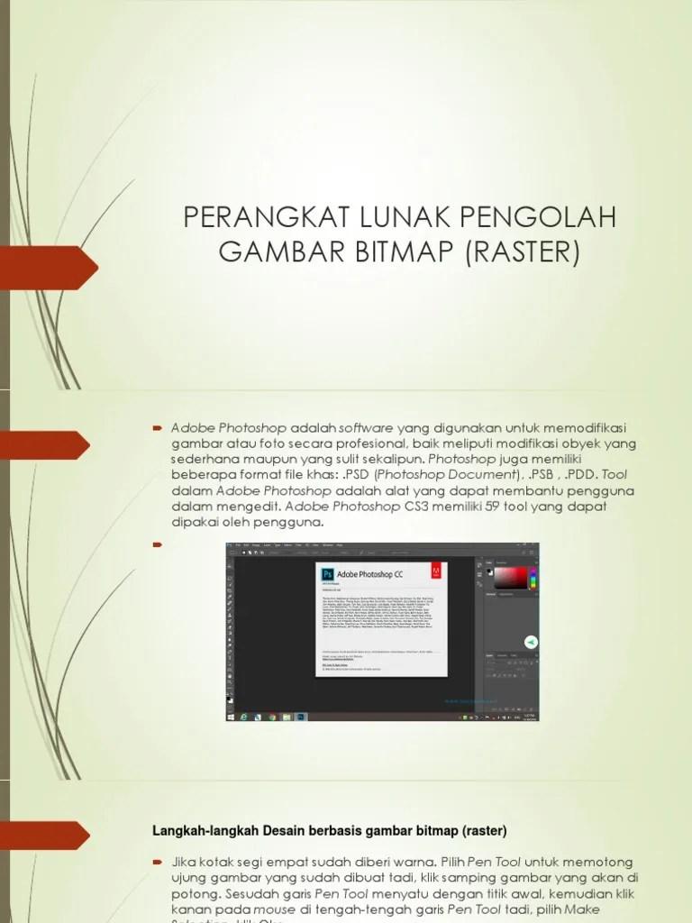 Software Pengolah Gambar : software, pengolah, gambar, UNM-TKI1-KB4-PPT8-Perangkat, Lunak, Pengolah, Gambar, Bitmap, (Raster)