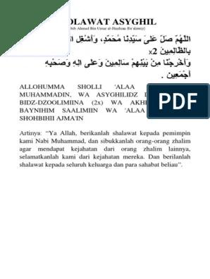 Sholawat Asyghil Dan Artinya : sholawat, asyghil, artinya, SHOLAWAT, ASYGHIL