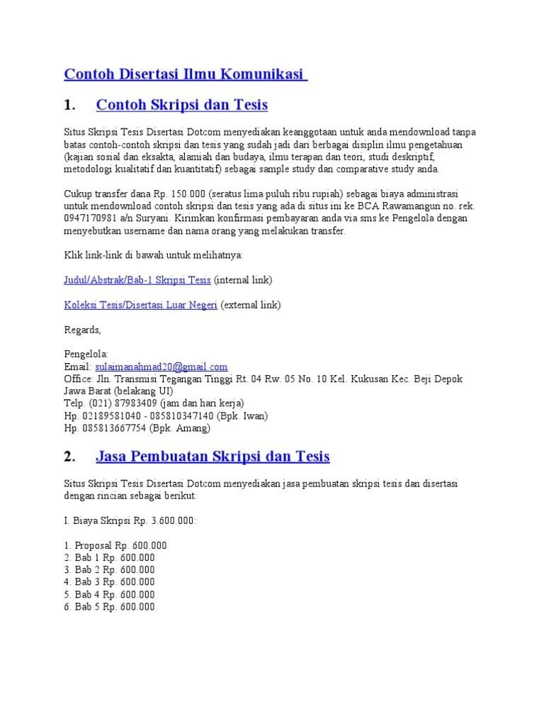 Contoh Skripsi Deskriptif Kuantitatif Rasanya