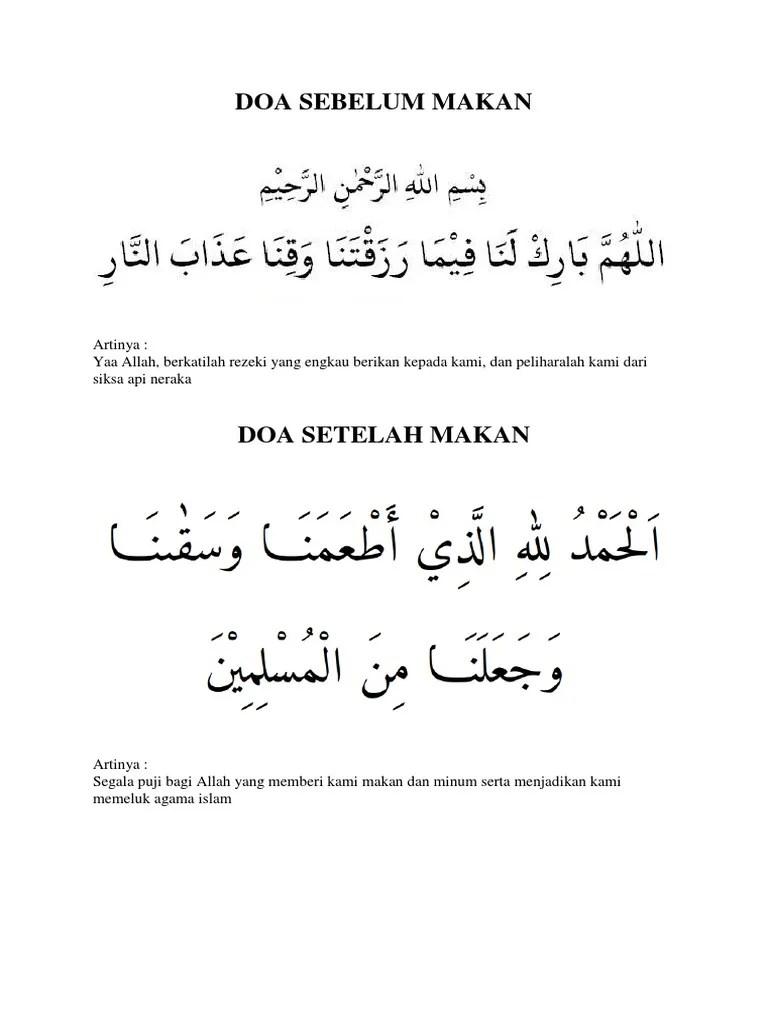 Arti Doa Sebelum Makan : sebelum, makan, Sebelum, Makan
