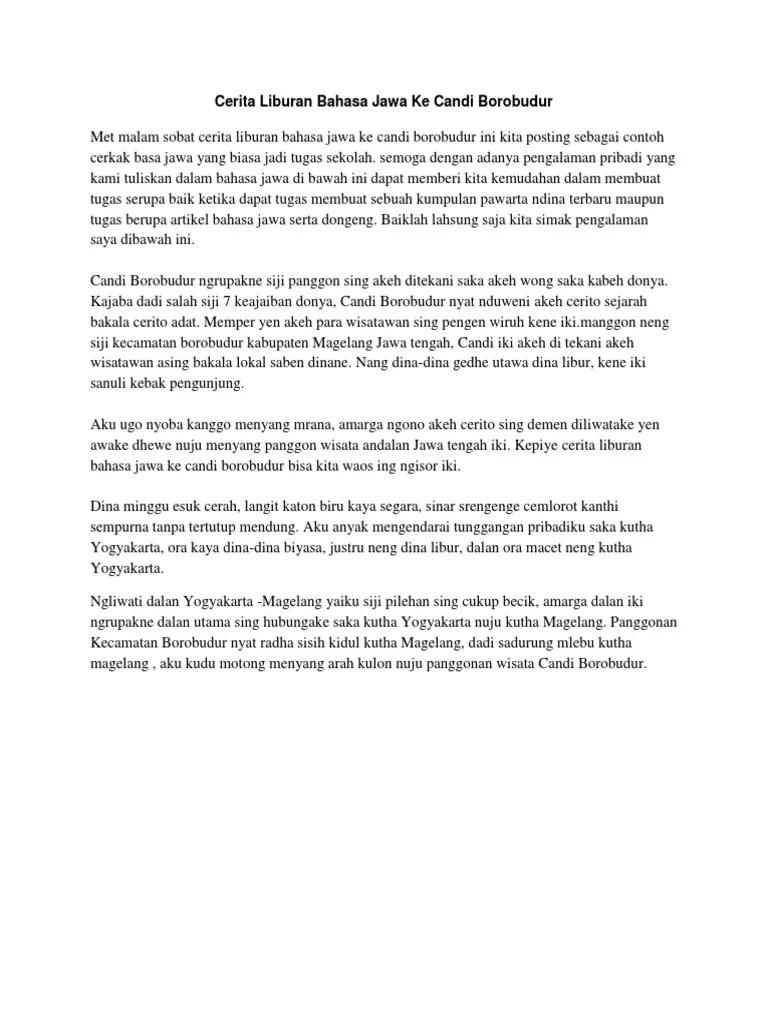 Cerita Pengalaman Bahasa Jawa : cerita, pengalaman, bahasa, Cerita, Pengalaman, Bahasa, Singkat