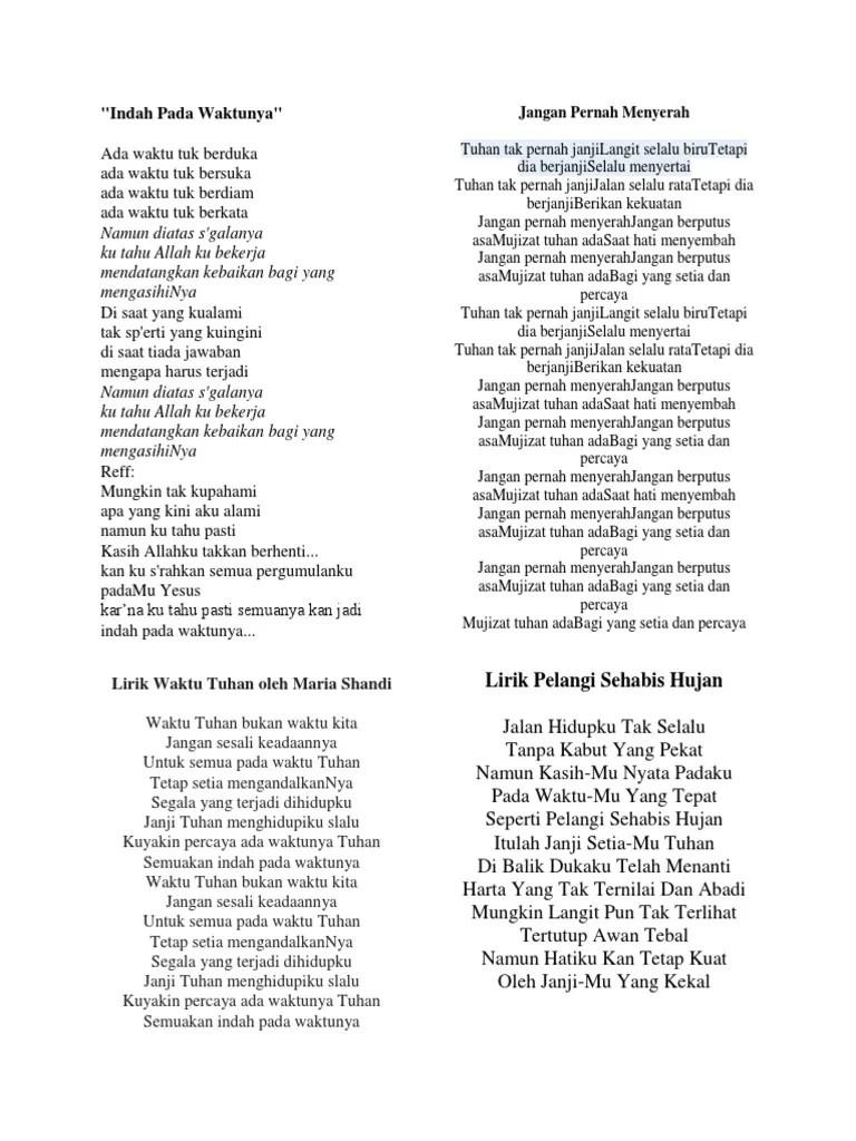 Lirik Lagu Waktu Tuhan Bukan Waktu Kita : lirik, waktu, tuhan, bukan, Lirik, Papah