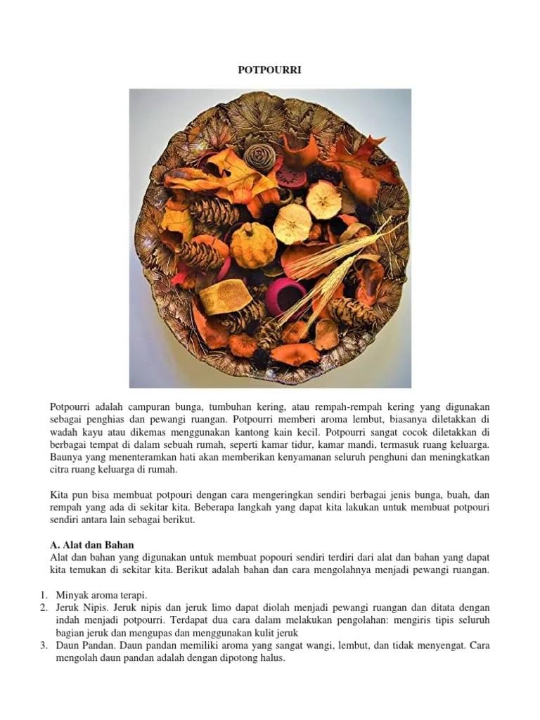 Bahan Membuat Potpourri : bahan, membuat, potpourri, Potpourri