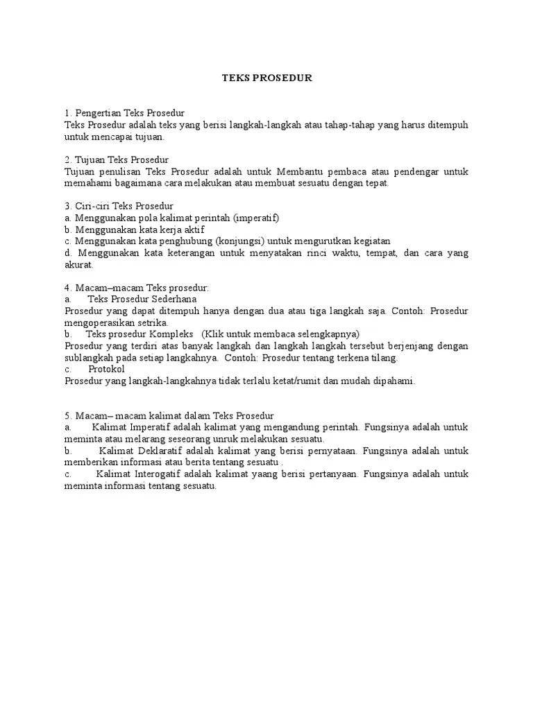 Kalimat Deklaratif Dalam Teks Prosedur : kalimat, deklaratif, dalam, prosedur, Macam, Kalimat, Dalam, Prosedur