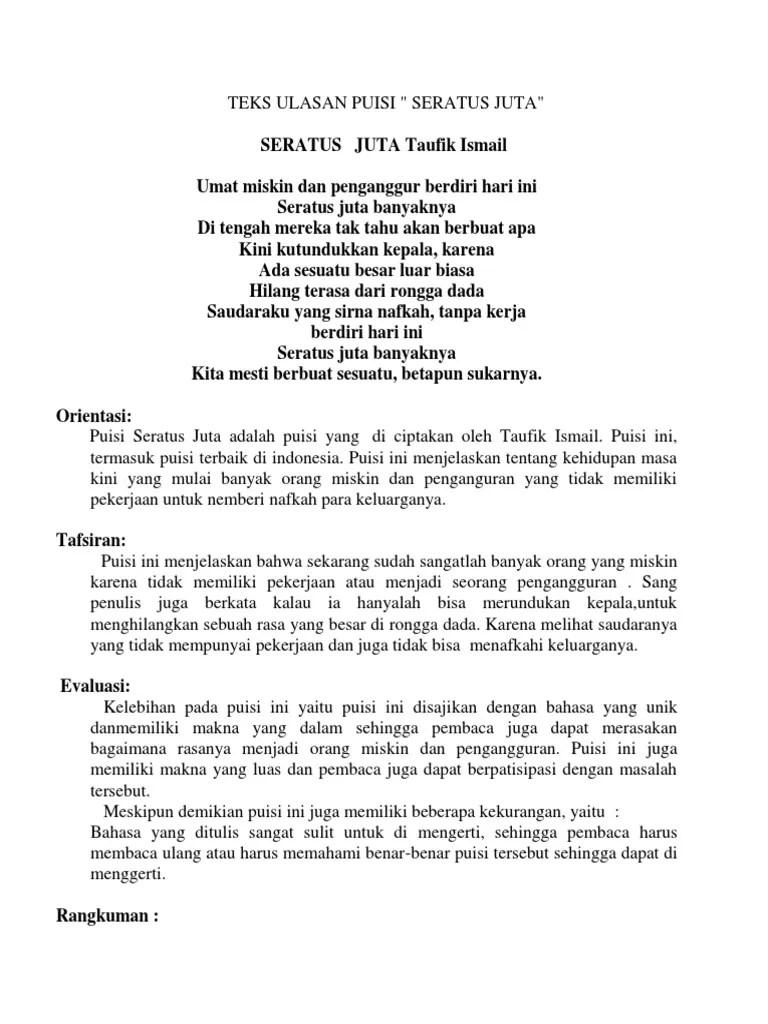 Puisi Pendek Cinta Tanah Air Puisi Indonesia Lengkap