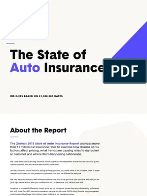 The Zebra State Of Auto Insurance Report 2019 Vehicle Insurance Traffic Collision