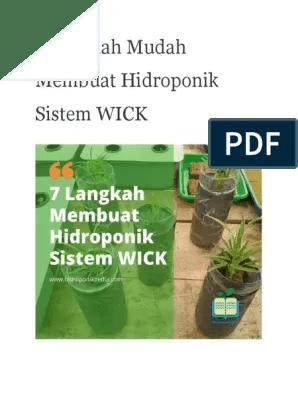 Hidroponik Sistem Wick Pdf : hidroponik, sistem, Langkah, Mudah, Membuat, Hidroponik, Sistem