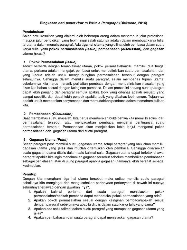 Gagasan Utama Dapat Terletak Di : gagasan, utama, dapat, terletak, Write, Paragraph, Summary