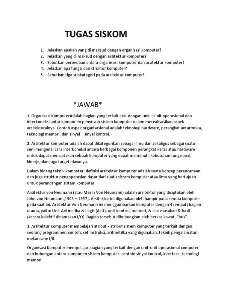 4 Komponen Utama Sistem Komputer : komponen, utama, sistem, komputer, Sebutkan, Jelaskan, Komponen, Utama, Struktur, Sistem, Komputer