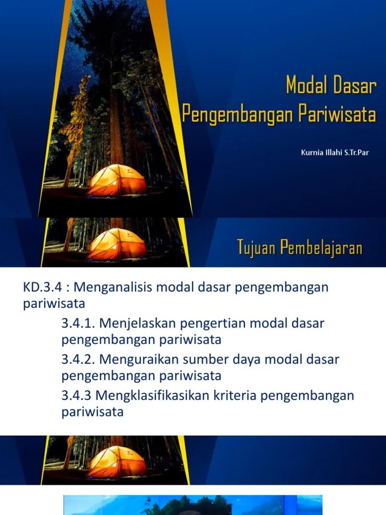 Modal Dasar Pengembangan Pariwisata : modal, dasar, pengembangan, pariwisata, Modal, Dasar, Pengembangan, Pariwisata