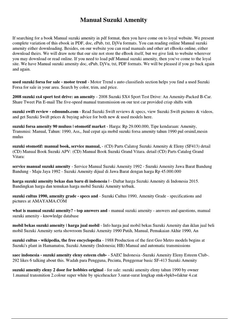 2008 suzuki sx4 owner manual [ 768 x 1024 Pixel ]