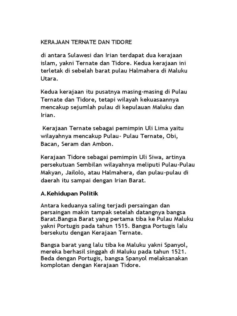 Kehidupan Politik Kerajaan Tidore : kehidupan, politik, kerajaan, tidore, Kehidupan, Politik, Kerajaan, Tidore