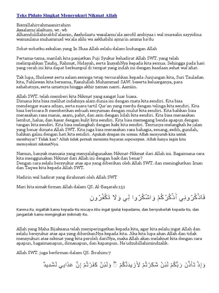 Pidato Mensyukuri Nikmat Allah : pidato, mensyukuri, nikmat, allah, Pidato, Singkat, Mensyukuri, Nikmat, Allah`.docx