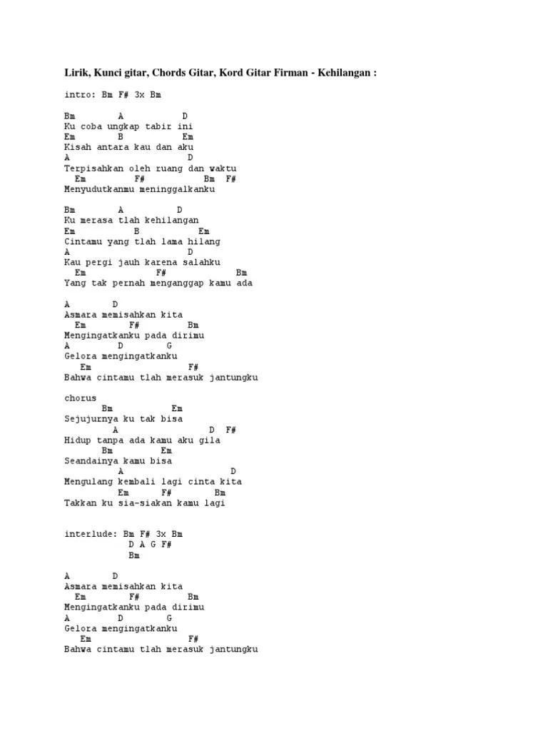 Chord Lagu Firman Kehilangan : chord, firman, kehilangan, Firman, Kehilangan.docx