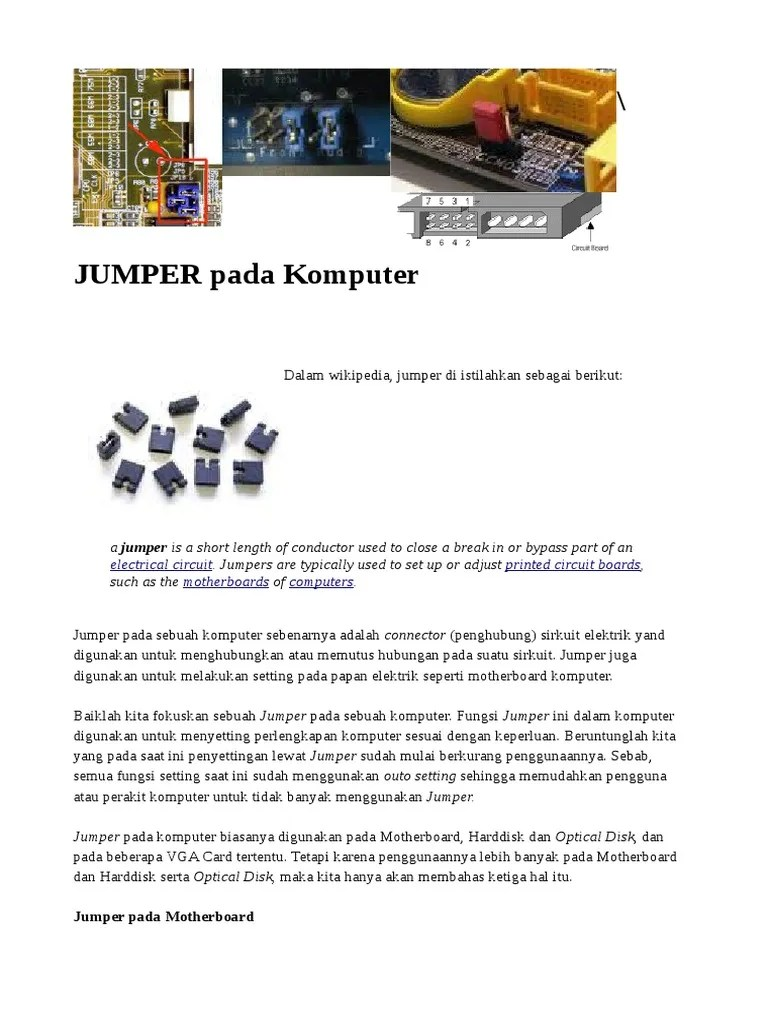 Fungsi Jumper Pada Motherboard : fungsi, jumper, motherboard, Electrical, Circuit, Printed, Boards, Motherboards, Computers