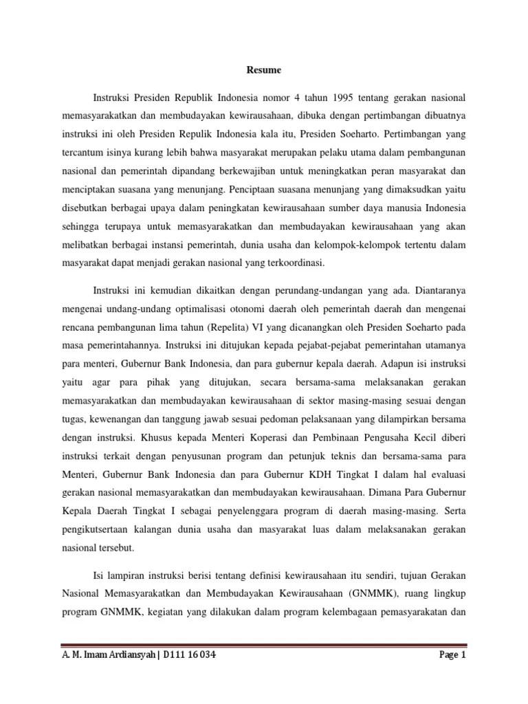 Pengertian Kewirausahaan Menurut Inpres No 4 Tahun 1995 : pengertian, kewirausahaan, menurut, inpres, tahun, Instruksi, Presiden, Tahun