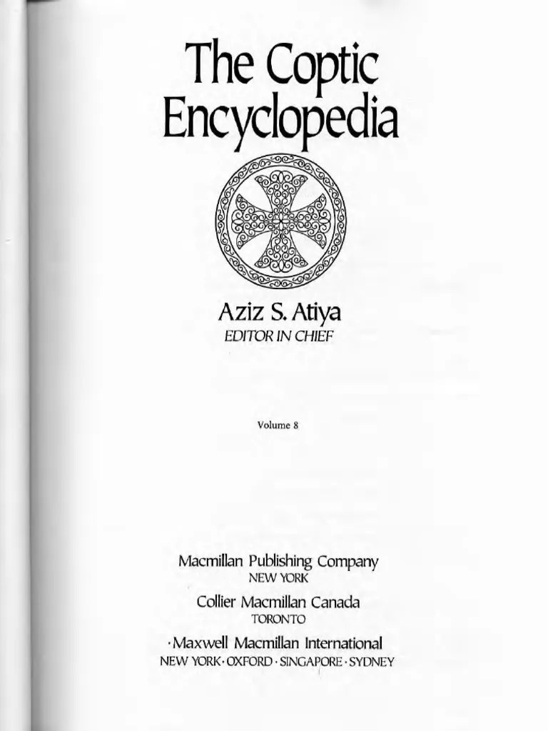 The Coptic Encyclopaedia Vol 8 Réduit Philology Language Arts Discipline