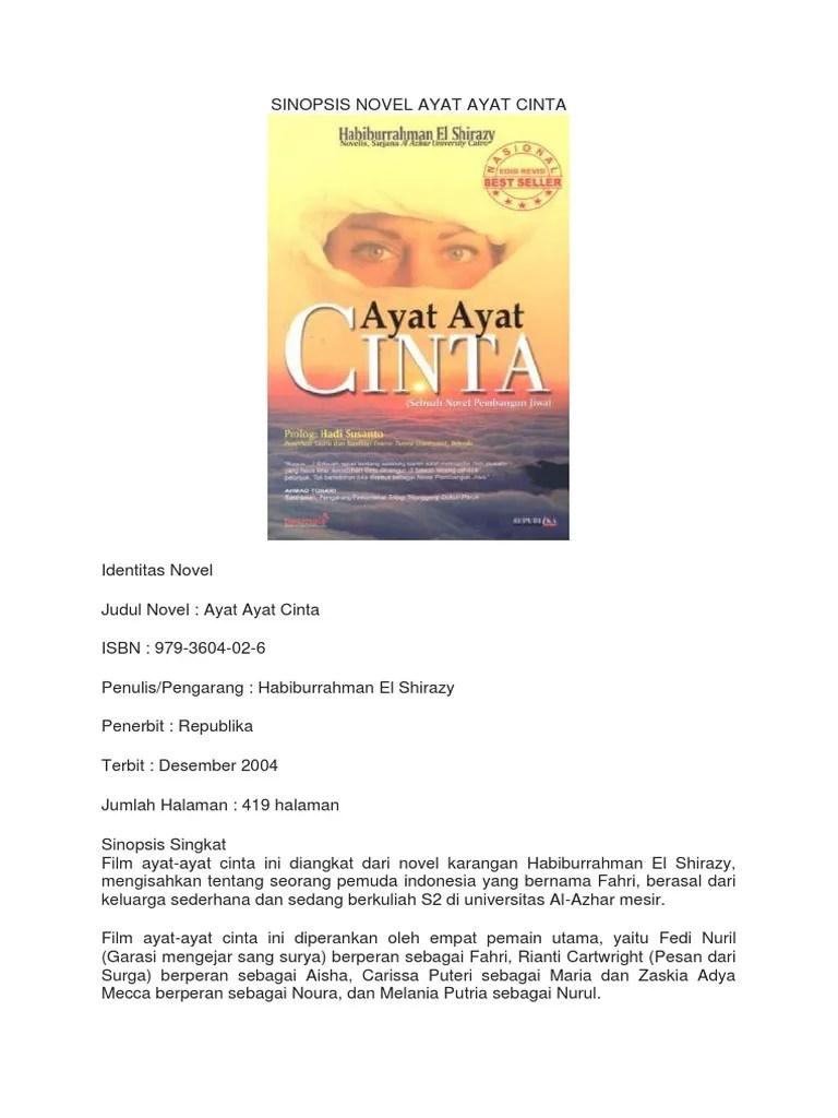 Sinopsis Novel Ayat Ayat Cinta : sinopsis, novel, cinta, SINOPSIS, NOVEL, CINTA.docx