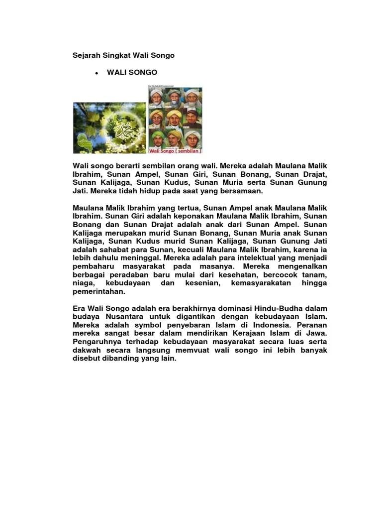 Sejarah Wali Songo Singkat : sejarah, songo, singkat, Sejarah, Singkat