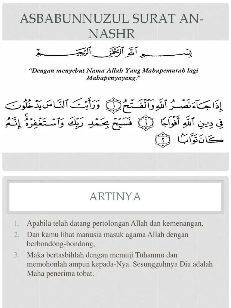 Surat An Nashr Dan Artinya : surat, nashr, artinya, Surat, Nashr
