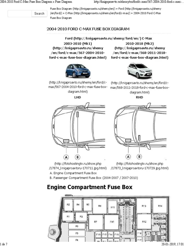 medium resolution of ford c max fuse box layout