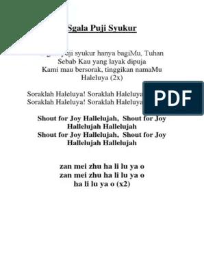 Lirik Lagu S'gala Puji Syukur : lirik, s'gala, syukur