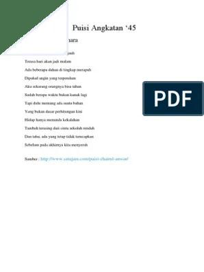 Puisi 45 : puisi, Puisi, Angkatan, 66.docx