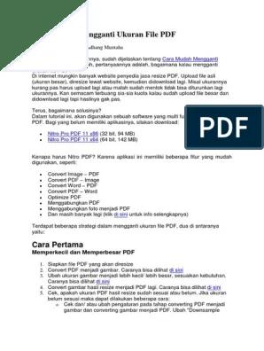 Perbesar Ukuran File Pdf : perbesar, ukuran, Mudah, Mengganti, Ukuran, PDF.docx