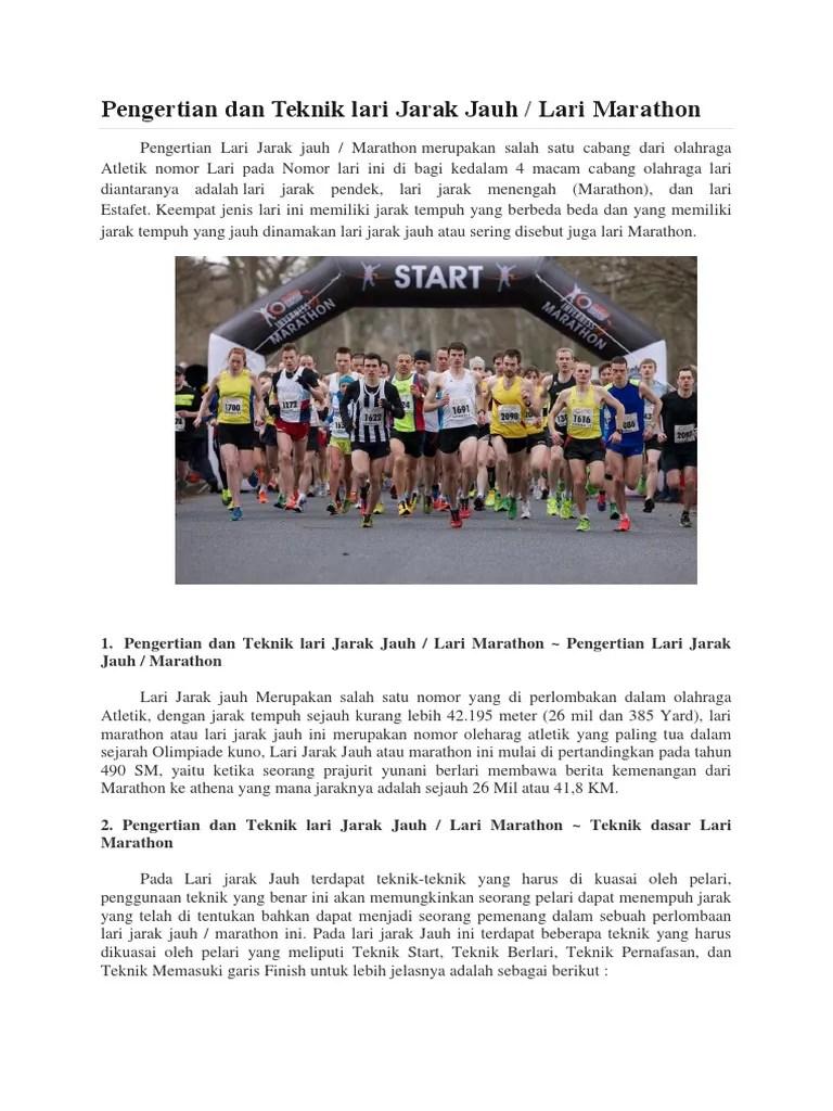 Artikel Atletik Lari : artikel, atletik, Pengertian, Teknik, Jarak, Jauh.docx