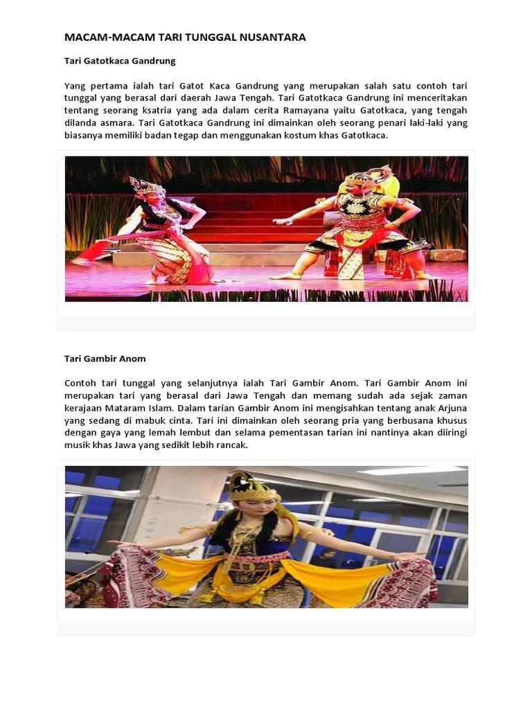 Macam Macam Tari Tunggal Nusantara : macam, tunggal, nusantara, MACAM, Macam, Tarian, Tunggal.pdf