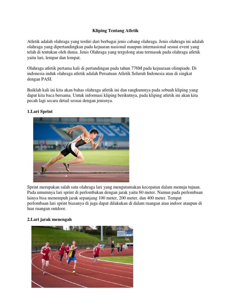 Artikel Atletik Lari : artikel, atletik, Kliping, Olahraga, Jarak, Goresan