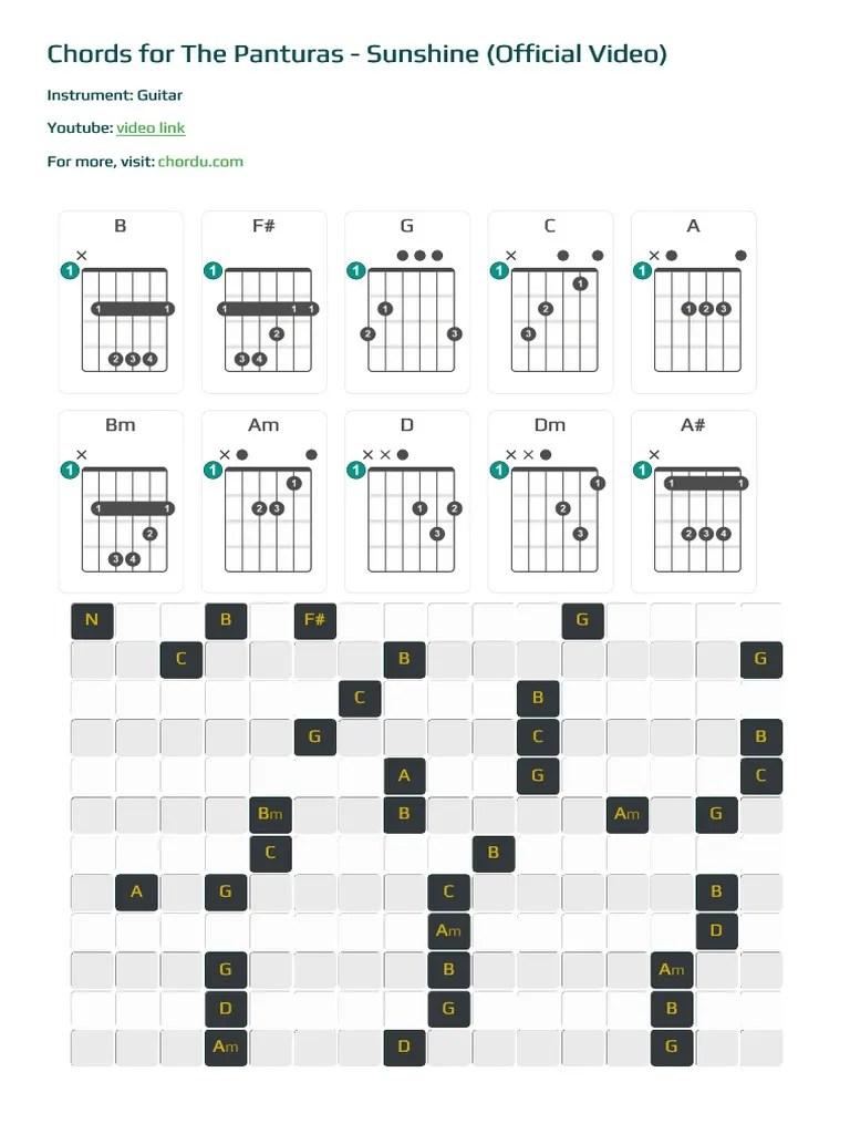 The Panturas Sunshine : panturas, sunshine, Chord, Guitar, Media, Leisure