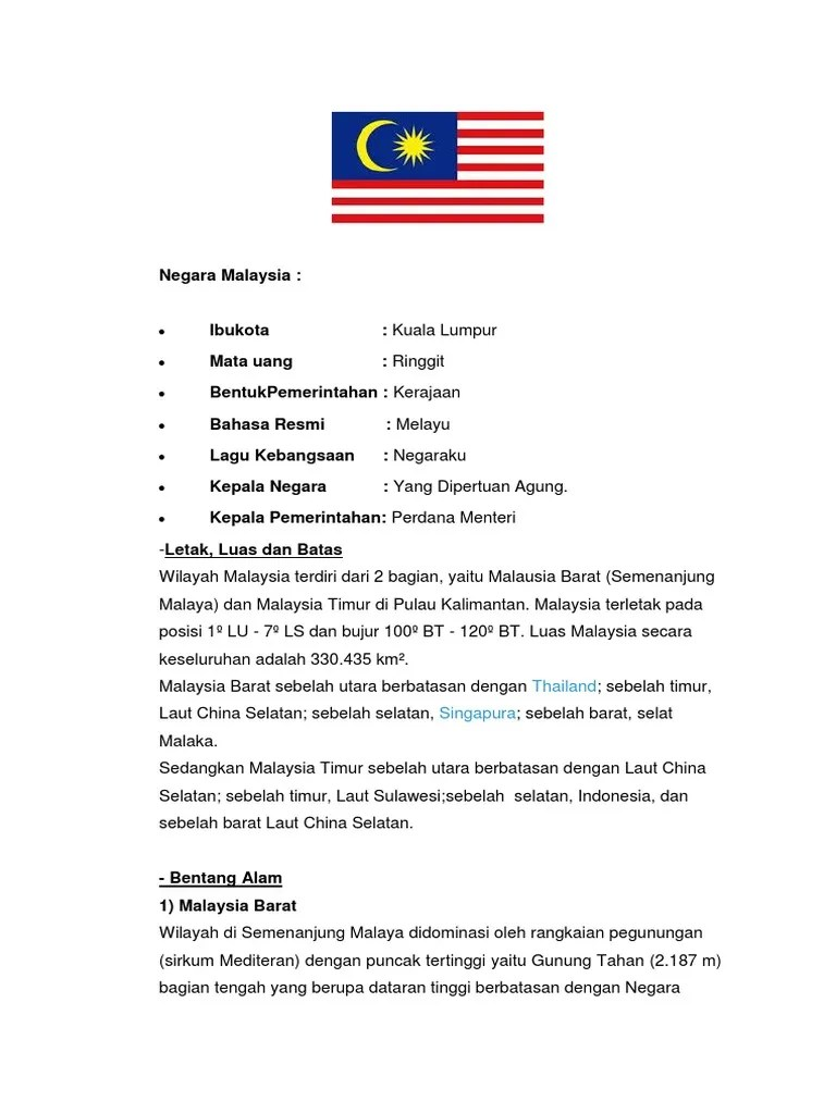 Negara Bagian Malaysia : negara, bagian, malaysia, Negara, Malaysia.docx