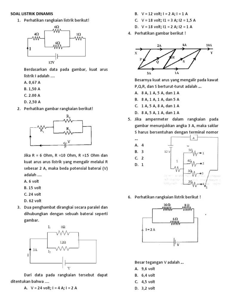 Soal Listrik Dinamis Kelas 12 : listrik, dinamis, kelas, LISTRIK, DINAMIS
