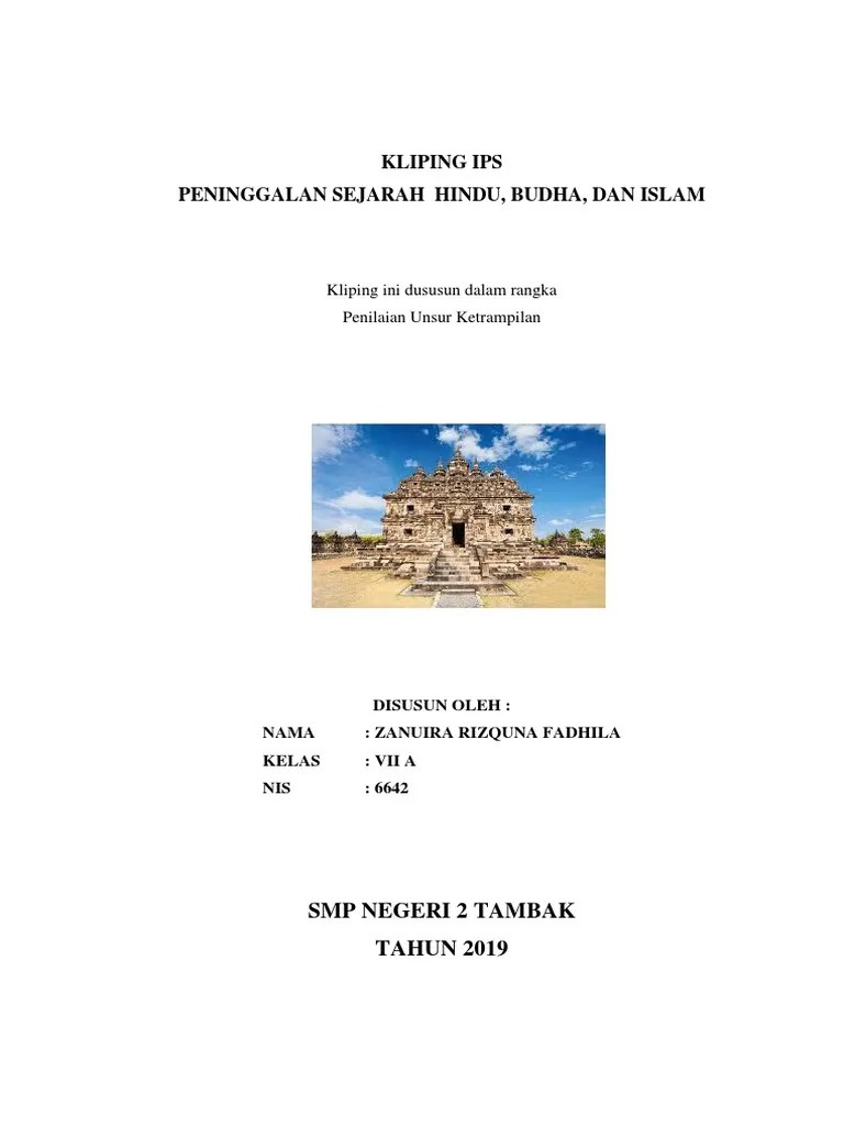 Contoh Peninggalan Kerajaan Islam : contoh, peninggalan, kerajaan, islam, Membuat, Kliping, Peninggalan, Sejarah, Indonesia