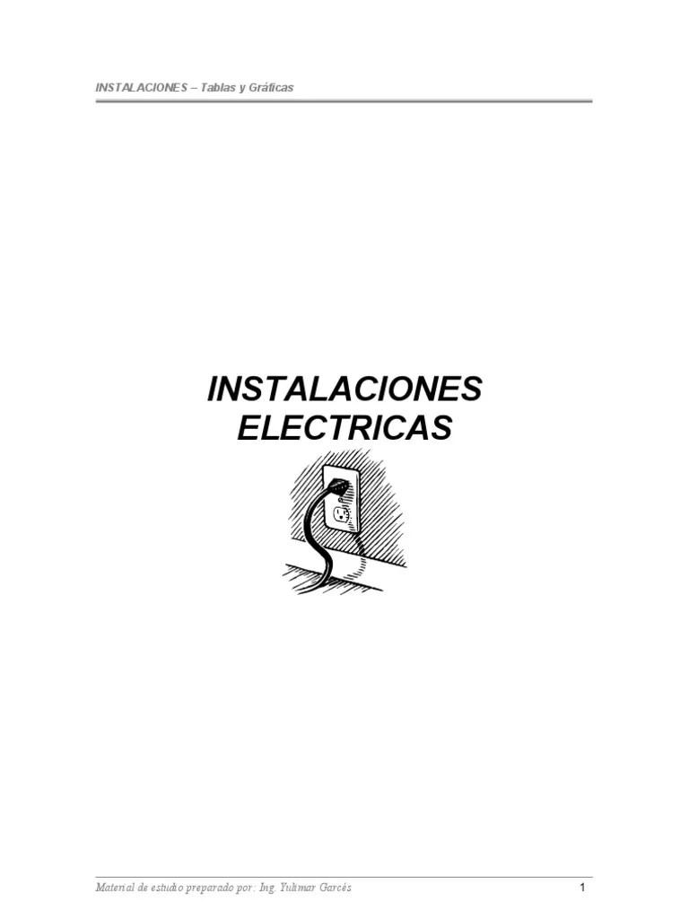 TABLAS INSTALACIONES ELECTRICAS