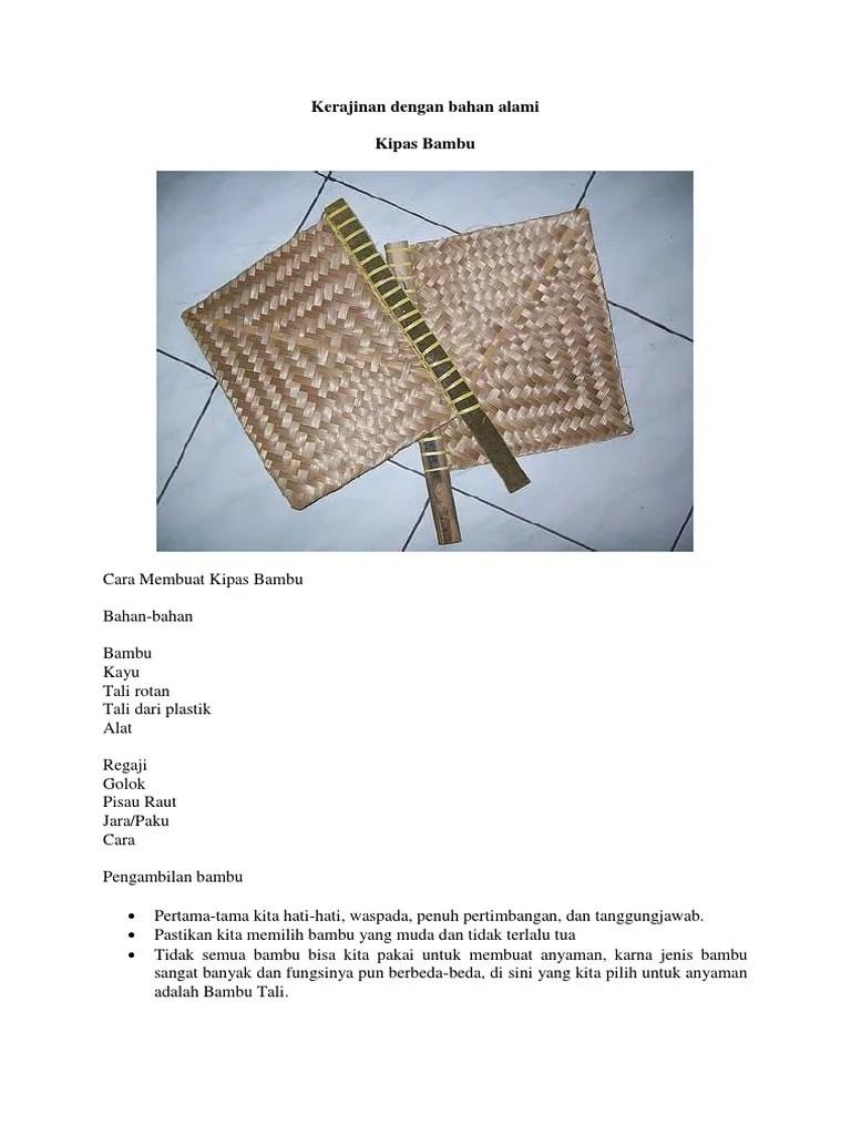 Cara Membuat Kipas Bambu : membuat, kipas, bambu, Membuat, Kipas, Anyaman, Bambu, Belajar