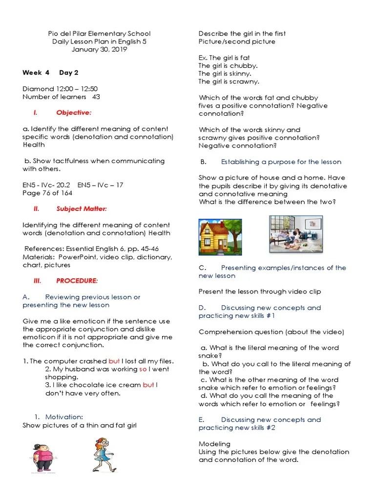 DLP-JAN-30   Connotation   Lesson Plan [ 1024 x 768 Pixel ]
