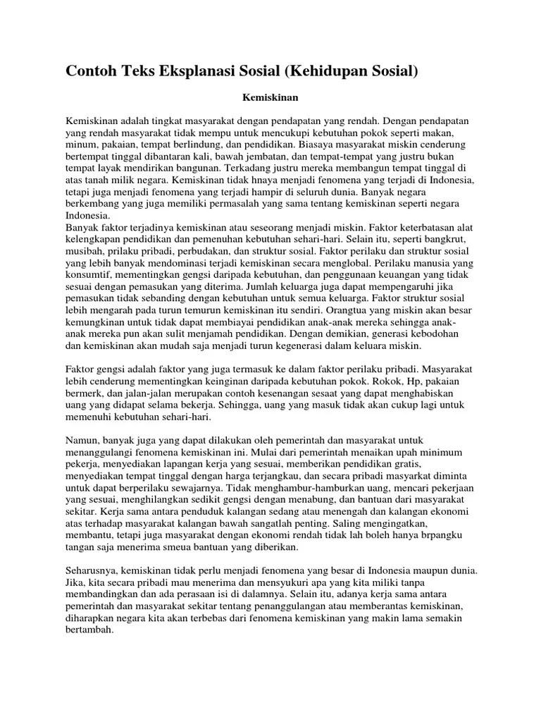 5 Contoh Teks Eksplanasi tentang Fenomena Sosial Th. 2021