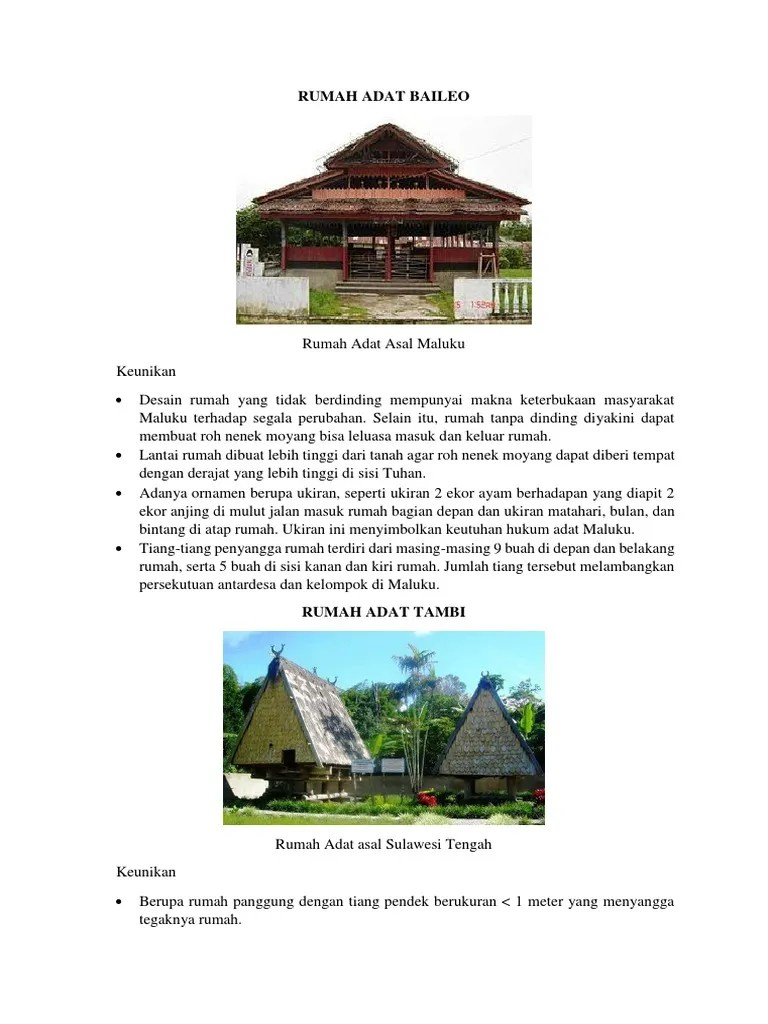 Keunikan Rumah Adat Baileo : keunikan, rumah, baileo, Keunikan, Rumah, Maluku